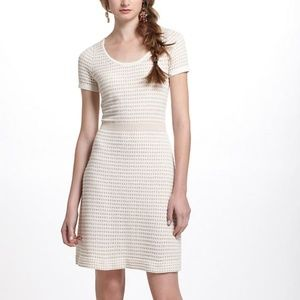 Anthropologie Sparrow Cream Gold Sweater Dress